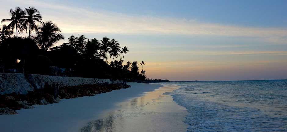 Abenddämmerung auf Sansibar