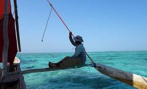 Segelboot vor Sansibar