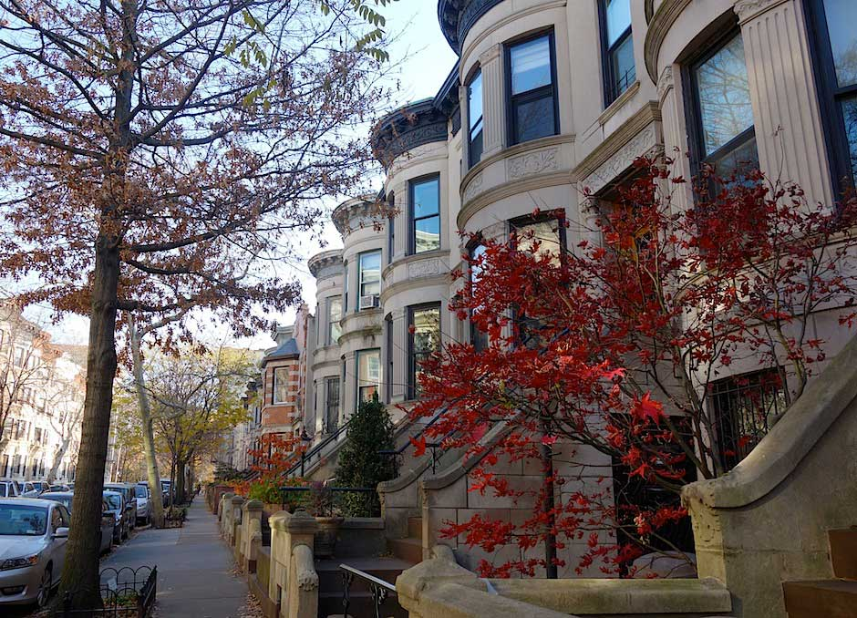 Straße in Park Slope, Brooklyn