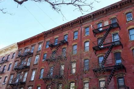 Häuserzeile in Williamsburg, Brooklyn