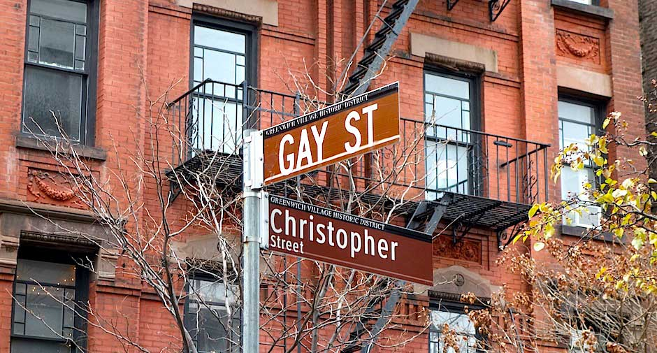 Ecke Gay Street & Christopher Street in Greenwich Village