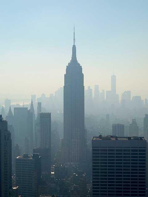 Top of the Rock - Blick auf das Empire State Building und Lower Manhattan