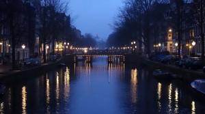 Amsterdam - Gracht am Abend